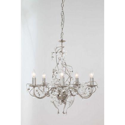 Glass Flower 5 Light Chandelier at Homebase -- Be inspired and ...