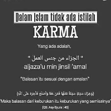 Menyikapi Hukum Karma Dalam Islam Karma Islam Hukum