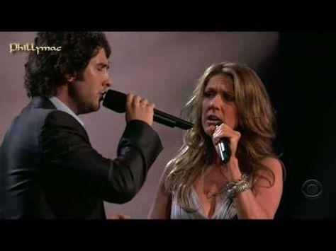 "Celine Dion and Josh Groban ""The Prayer."""