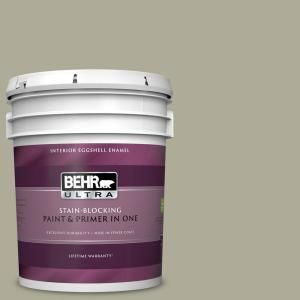 Behr Ultra 5 Gal Mq6 27 Sage Wisdom Eggshell Enamel Interior Paint And Primer In One 275405 With Images Interior Paint Behr Ultra Honey Locust
