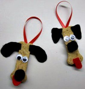 Dog Ornaments haha...made out of dog biscuits!