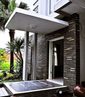 Model Teras Rumah Masa Kini Batu Alam