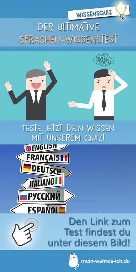 Der Ultimative Sprachen Wissenstest Wissen Quiz Wissensquiz Sprache