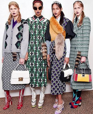 Winter 2016 inspo from Muimui. skirts & miss matched prints