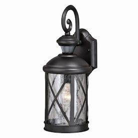 Cascadia Henderson Black Motion Sensor Dusk To Dawn Outdoor In 2020 Outdoor Wall Lighting Outdoor Wall Lantern Wall Lantern