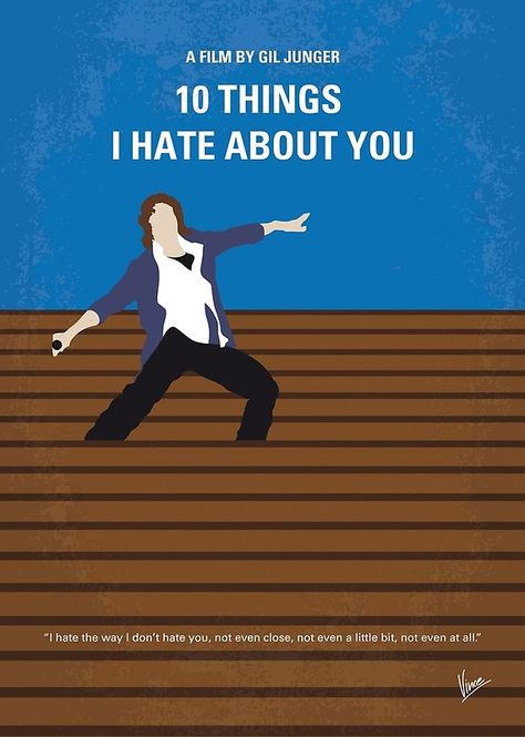 No850 My 10 Things I Hate About You Minimal Movie Poster Poster by ChungKong Art