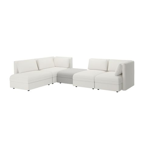 Gronlid Sectional 6 Seat With Open End Ljungen Dark Red