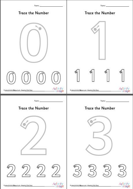 Trace the number worksheets 0 to 10 | nagla school | Number