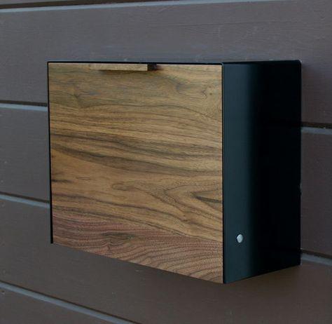custom wall mount mailbox. Perfect Mount Modern Mailbox Large Walnut Mailbox Wall Mounted Mailbox On Custom Mount X