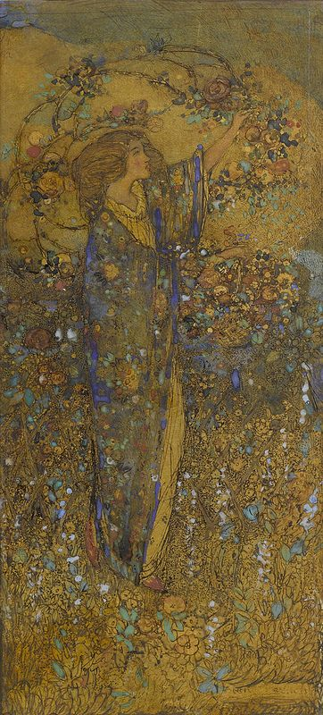 Annie French (1872-1965)The flower maiden. (art nouveau) | JV
