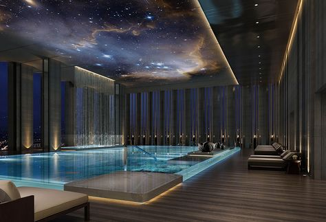 Indoor Swimming Pool Ideas - You want to build a Indoor swimming pool? Here are some Indoor Swimming Pool designs and ideas for you. Luxury Swimming Pools, Luxury Pools, Indoor Swimming Pools, Swimming Pool Designs, Lap Swimming, Indoor Pools In Houses, Small Indoor Pool, Swimming Pool Architecture, Amazing Swimming Pools