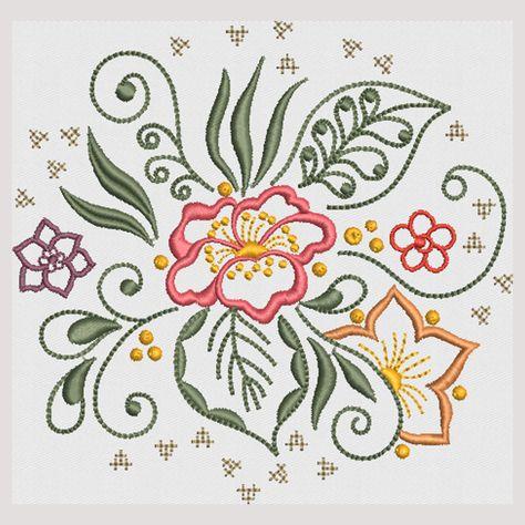 Allstitch   Secrets Of Embroidery Elegant Flowers