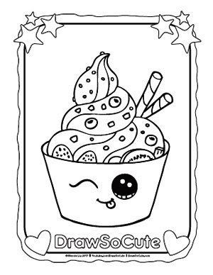 Coloring Pages Draw So Cute Unicorn Cake Di 2020 Gambar Lucu Cara Menggambar Buku Mewarnai