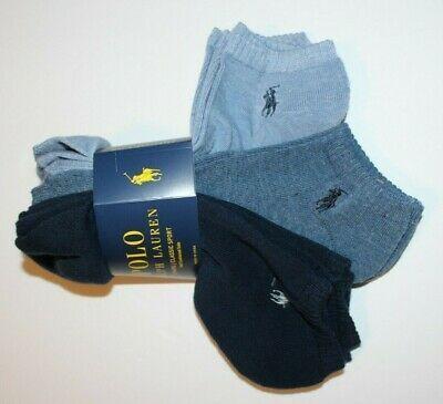 POLO RALPH LAUREN  6 Pairs NEW  CLASSIC SPORT HALF CUSHIONED Socks 10-13 WHITE