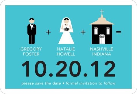 Perfect Pictogram:Paradise MYO Save the Date Magnets