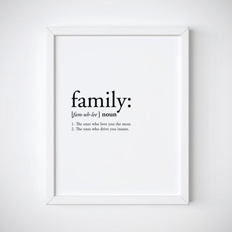 Family definition family print definition print funny
