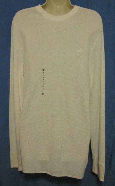 Mens Timberland Thermal Base Layer Long Sleeve Shirt White
