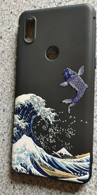 Online Shop Great Emboss Phone Case For Xiaomi Mi Mix 3 Mix3 Mix 2s Mix2s Cover Kanagawa Waves Carp Cranes 3d Phone Cases Aesthetic Phone Case Phone Case Cover