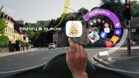 Augmented Reality Concept Puts Directions And Sightseeing Information On Your Windshield