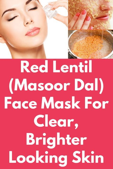 Red Lentil (Masoor Dal) Face Mask For Clear, Brighter
