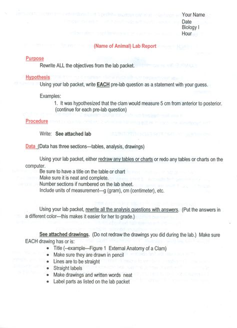 Science writing Duke University Scientific Writing Resource is a - chemistry lab report