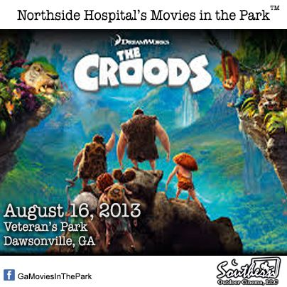 August 16 - Movies in the Park™ - Dawsonville.  For a list of free outdoor movies around Atlanta: www.facebook.com/GaMoviesInthePark