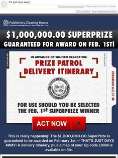 I would like to claim the SuperPrize from PCH and have