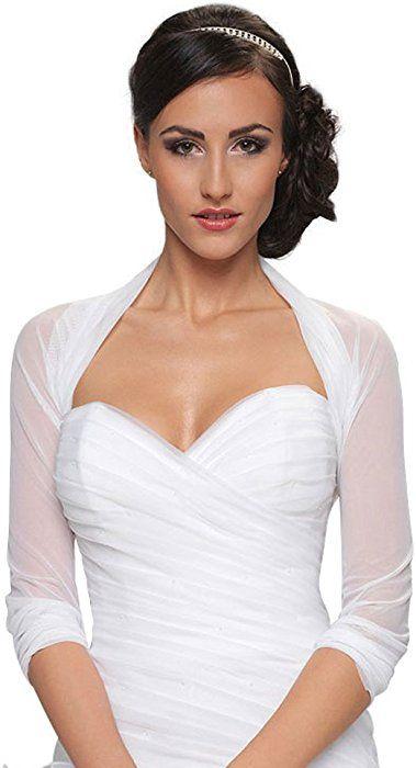 Damen Braut Bolero Brautkleid Chiffon Stretch B70 S M Ivory Amazon De Bekleidung Bridal Bolero Bridal Bolero Jacket Chiffon Bolero
