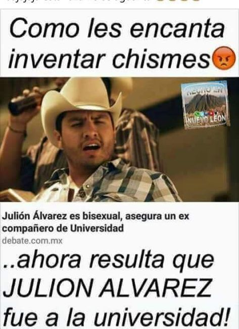 ★★★★★ Memes de risa gratis: Inventando chismes de Julión Álvarez I➨…