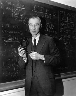 "Julius Robert Oppenheimer (April 22, 1904 – February 18, 1967) was an American theoretical physicist and professor of physics at the University of California, Berkeley. Along with Enrico Fermi, he is often called the ""father of the atomic bomb"" for his role in the Manhattan Project, the World War II project that developed the first nuclear weapons."