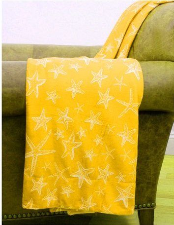 Beach Themed Throw Blanket Prepossessing Super Soft Microplush Decorative Throw Blanket Marine Sea Star Review