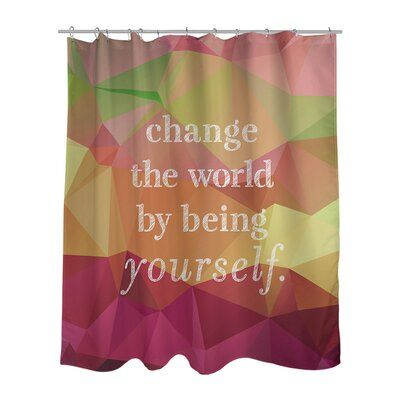 East Urban Home Faux Gemstone Change The World Quote Shower