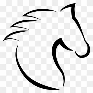 Horse Head With Hair Outline From Side View Comments Horse Head Icon Transparent Background Clipart Horse Head Horse Outline Clip Art