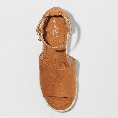 dcdceb6008 Women's Emery Espadrille Sandals - Universal Thread Chestnut (Brown) 11