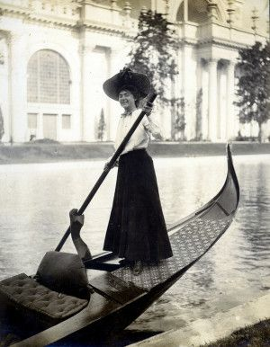 """Gondola girl."" Transportation at the 1904 World's Fair."