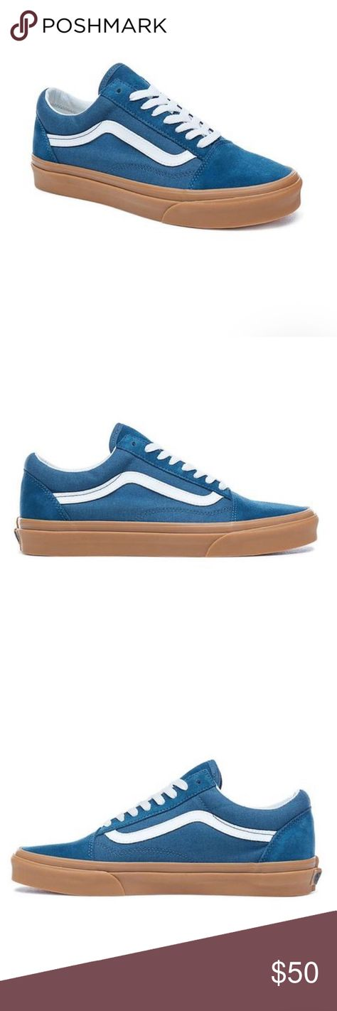 first rate 453e7 459d4 Vans old skool blue sneaker shoes gum new New with box Vans Old skool  Reflecting pond