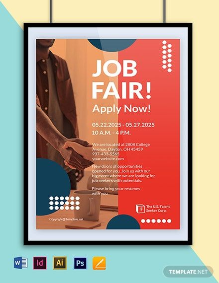 Free Modern Hr Poster Template Word Doc Psd Indesign Apple Mac Pages Illustrator Poster Template Poster Template Design Word Doc