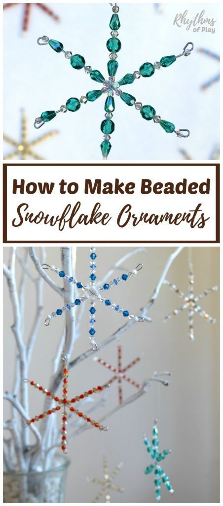 How To Make Beaded Snowflake Ornaments Video Tutorial Winter