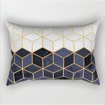 Everly Quinn Parke Lumbar Pillow In 2020 Throw Pillows Pillow Covers Geometric Cushions