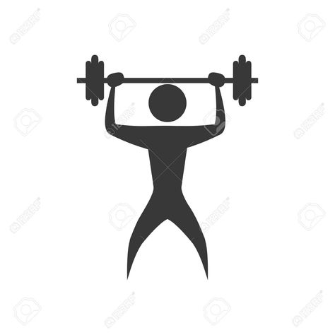 pictogram weight action move sport fitness icon. Isolated and..