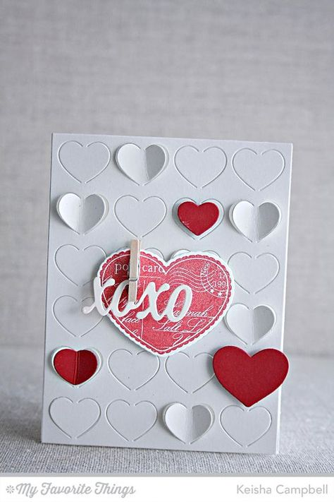All My Love stamp set and Die-namics, Fluttering Hearts Cover-Up Die-namics, Lots of Love Die-namics - Keisha Campbell #mftstamps