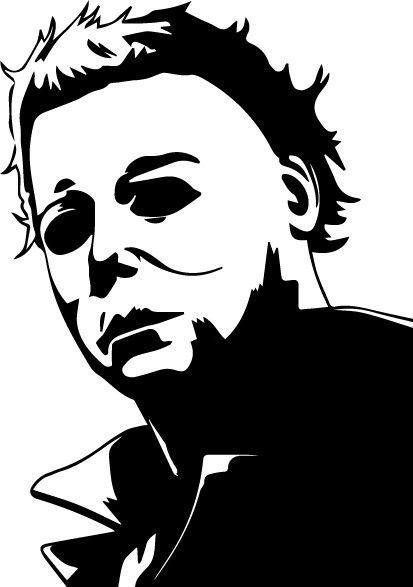 Michael Myers Vinyl Decal Sticker Halloween Carpenter Horror Monster Halloween Stencils Cricut Halloween Halloween Decals