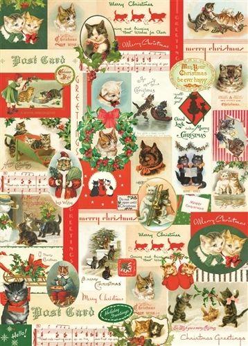 Italian Quality Single Sheet Christmas Rose Printed Paper #4008 | Decorative Gift Wrap