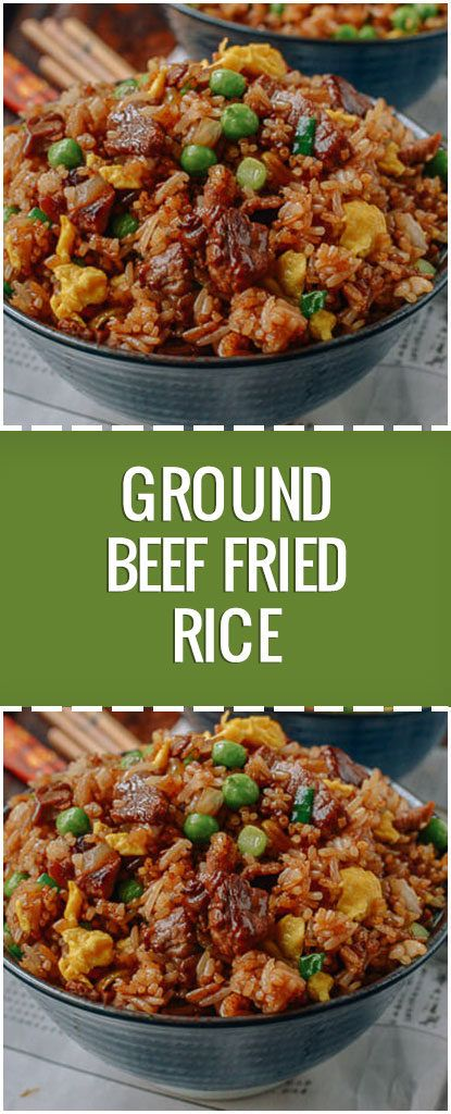 Ground Beef Fried Rice Fresh Family Recipes Ground Beef Recipes Healthy Healthy Beef Recipes Beef Fried Rice