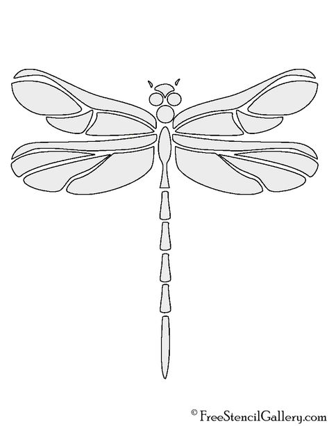 Dragonfly Stencils Printable. dragon dragonfly template