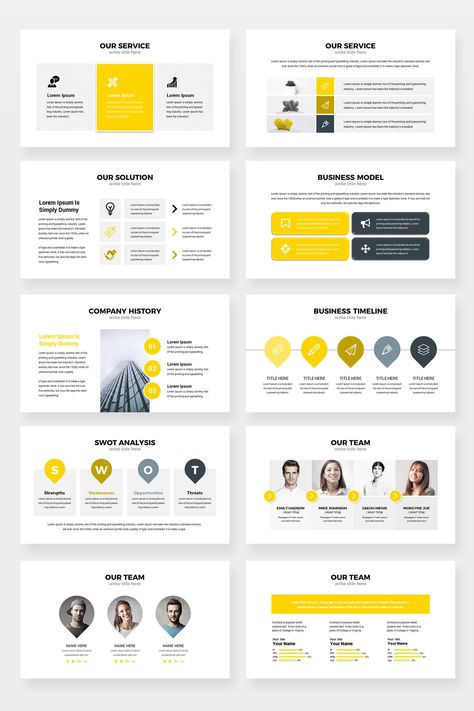 Settings Modern Clean Business Keynote Presentation Template