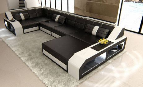 Sectional Leather Sofa Houston U Shape In 2020 Corner Sofa Design Sofa Design White Sectional Sofa