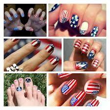 amerikaanse vlag nagels