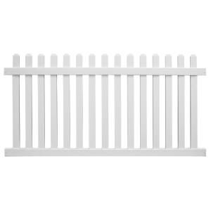 Weatherables Salem 5 Ft H X 6 Ft W White Vinyl Picket Fence Panel Kit Pwpi 3raltnrsc 5x6 The Home Dep In 2020 Vinyl Picket Fence Picket Fence Panels Fence Panels