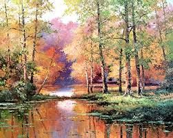 Image Result For Paintings Of Lakes And Trees Fall Tree Painting